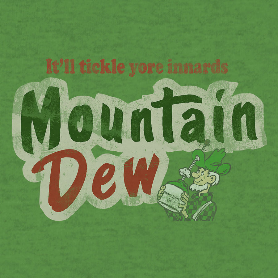 It'll Tickle Your Innards Mt Dew Pullover Hooded Sweatshirt - Green