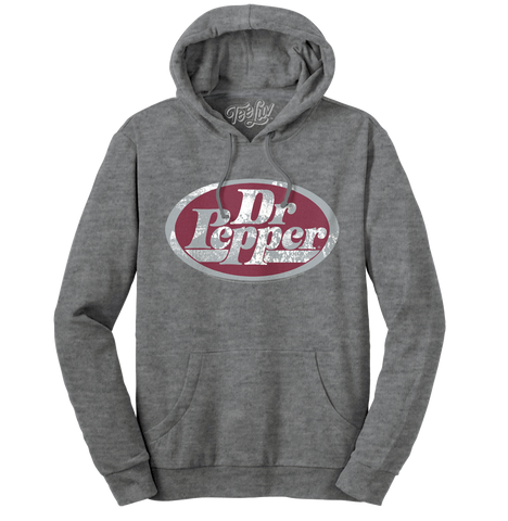 Dr Pepper Silver Logo Soft Touch Hoodie