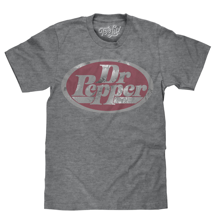 Dr Pepper Oval Logo T-Shirt - Gray