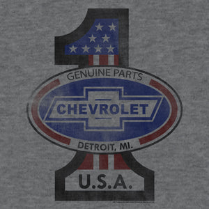 #1 Chevrolet T-Shirt - Gray