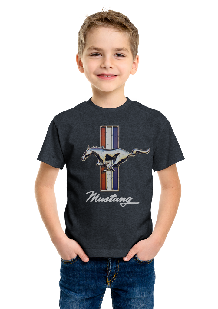 Boys Ford Mustang T-Shirt - Navy Blue