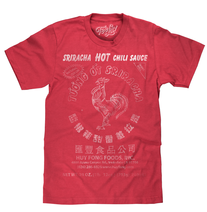 Sriracha Label T-Shirt - Red