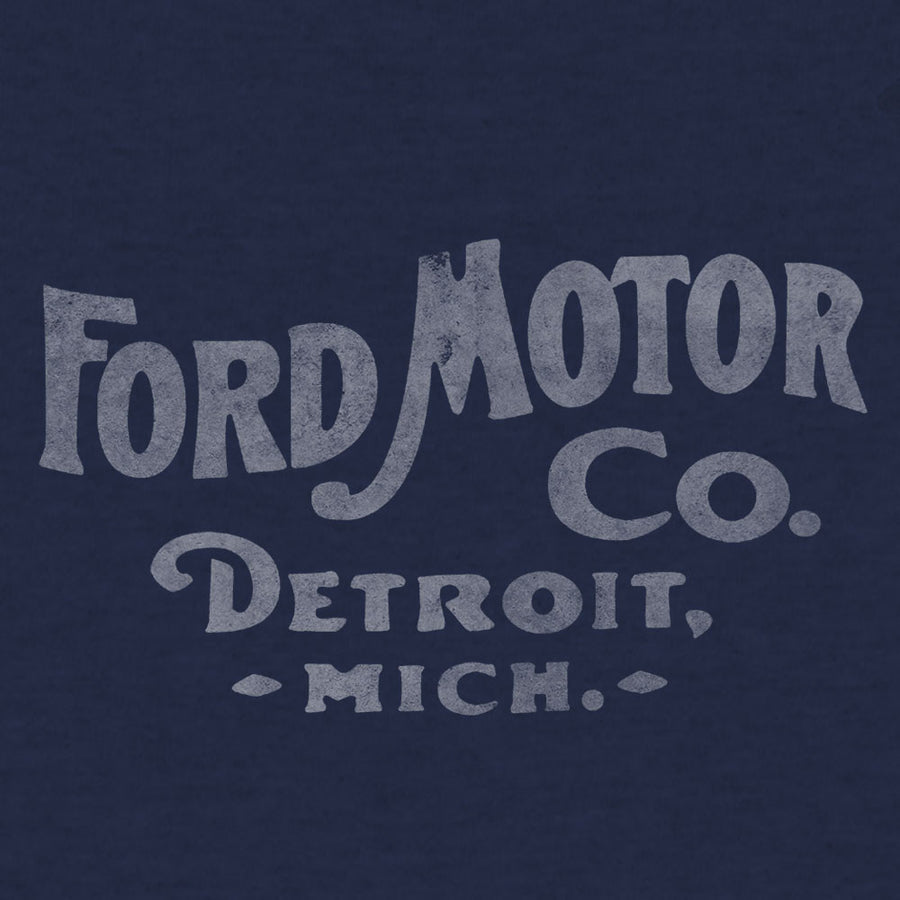 Ford Motor Company Detroit Michigan T-Shirt - Navy