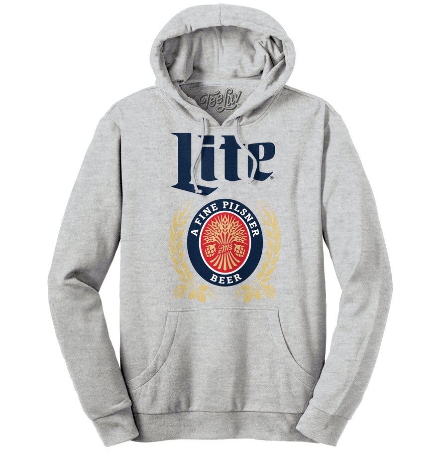 Miller Lite Logo Hooded Sweatshirt - Gray