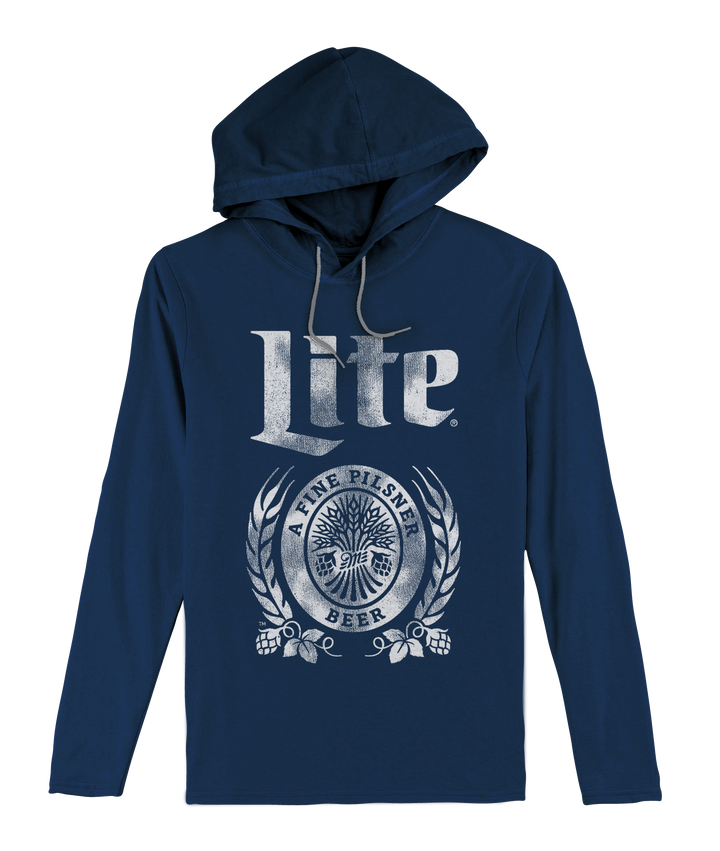 Miller Lite Hooded Jersey T-Shirt - Navy