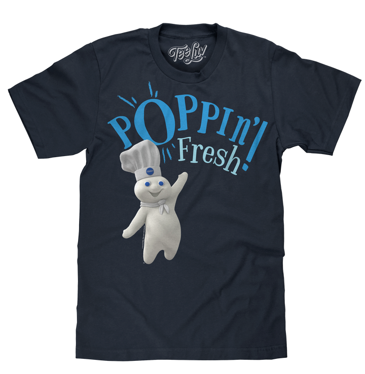 Pillsbury Doughboy Poppin' Fresh! T-Shirt - Navy