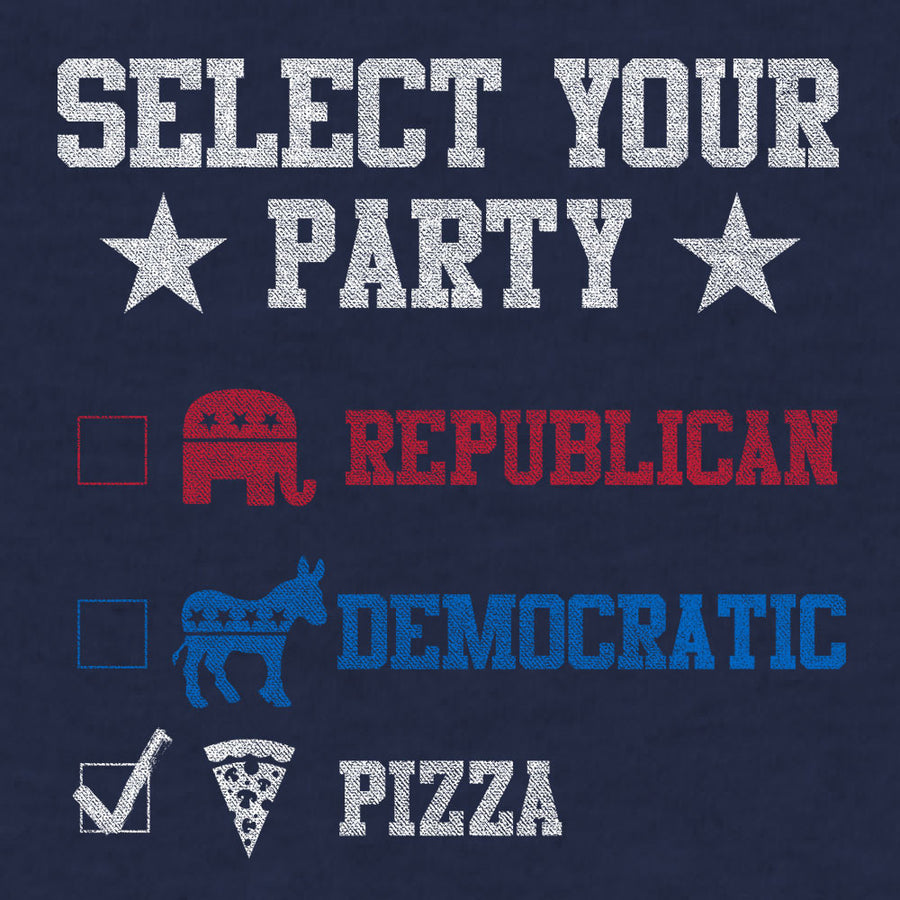 Vote Pizza Party! T-Shirt - Navy