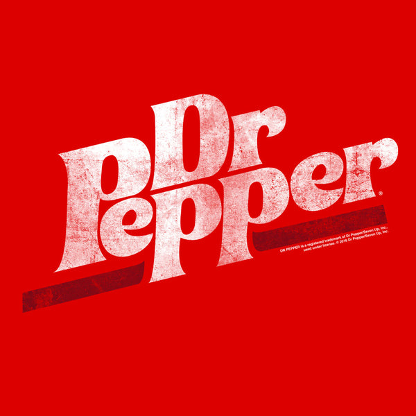 Dr Pepper Distressed Logo Soft Touch Hoodie