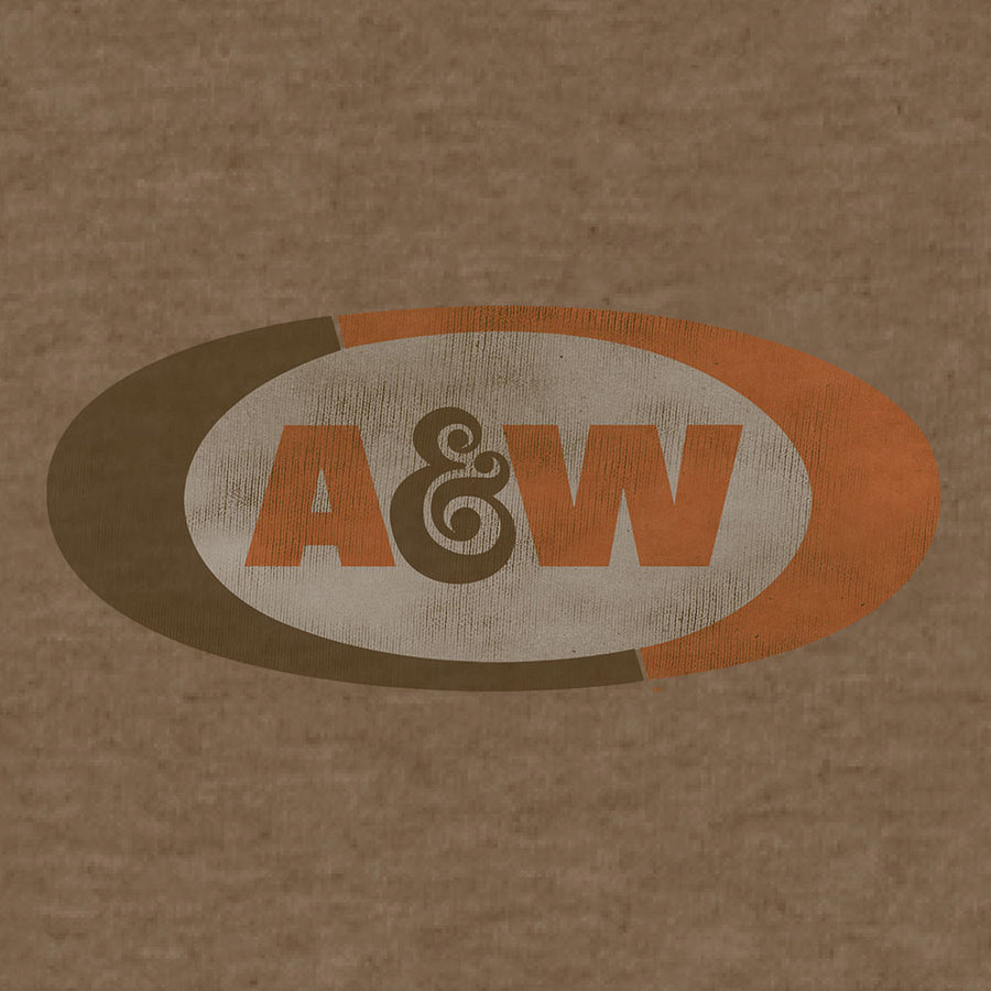 A&W Faded Logo T-Shirt - Brown
