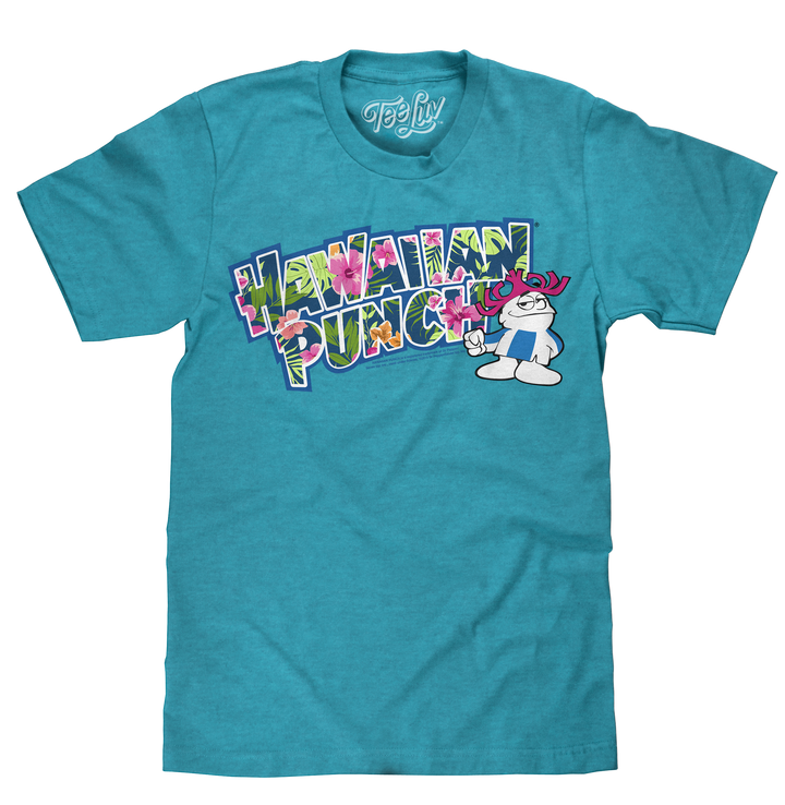 Hawaiian Punch Floral Print T-Shirt - Blue