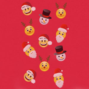 Emoji Holiday Party T-Shirt - Red