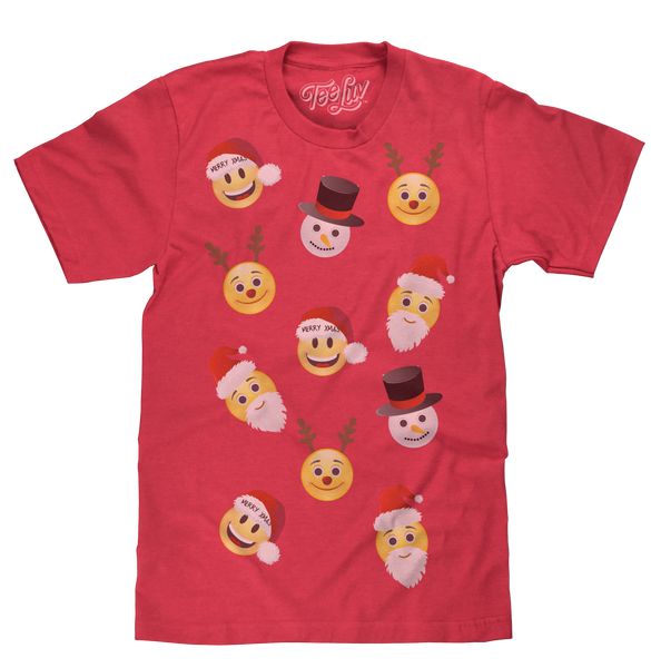 Smiley Party Holiday Tee