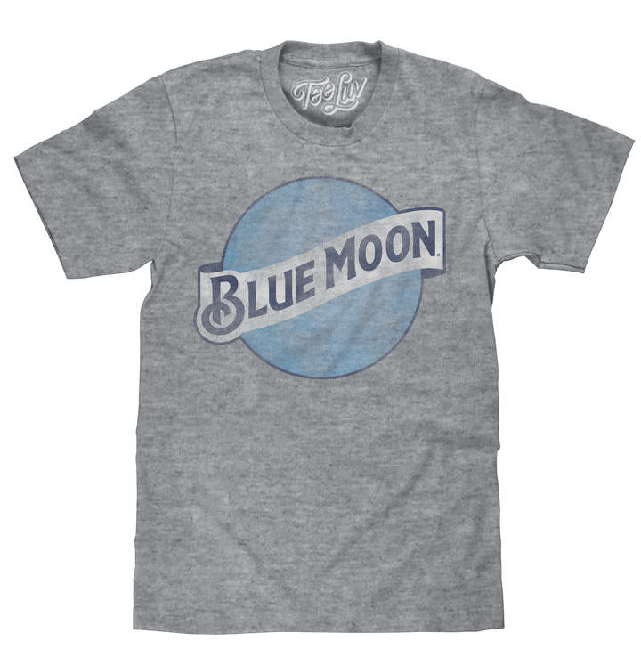 Blue Moon Color Logo T-Shirt - Gray