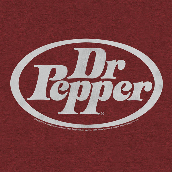 Dr Pepper Oval Logo on Crimson