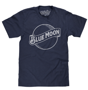 Blue Moon Logo T-Shirt - Navy