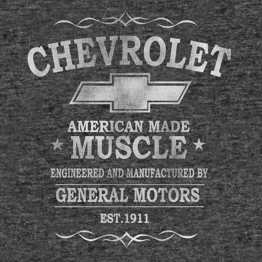 Chevrolet American Made Muscle T-Shirt - Gray