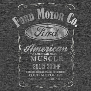 Ford Motor Co. American Made Muscle T-Shirt - Gray