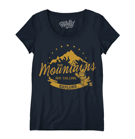 Woodsy Owl | The Mountains are Calling | Women's Scoop Tee