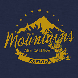Woodsy Owl The Mountains are Calling T-Shirt - Navy