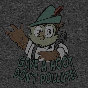 Woodsy Owl Give a Hoot Don't Pollute T- Shirt - Gray