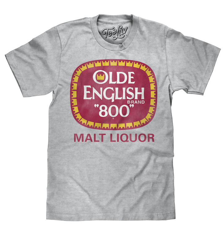 "Olde English ""800"" Logo T-Shirt - Gray"