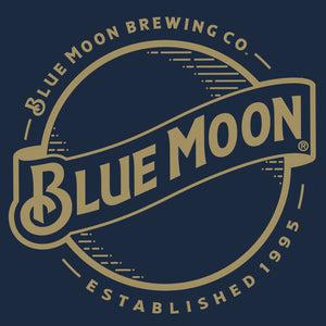 Blue Moon Gold Logo Hooded Jersey T-Shirt - Navy