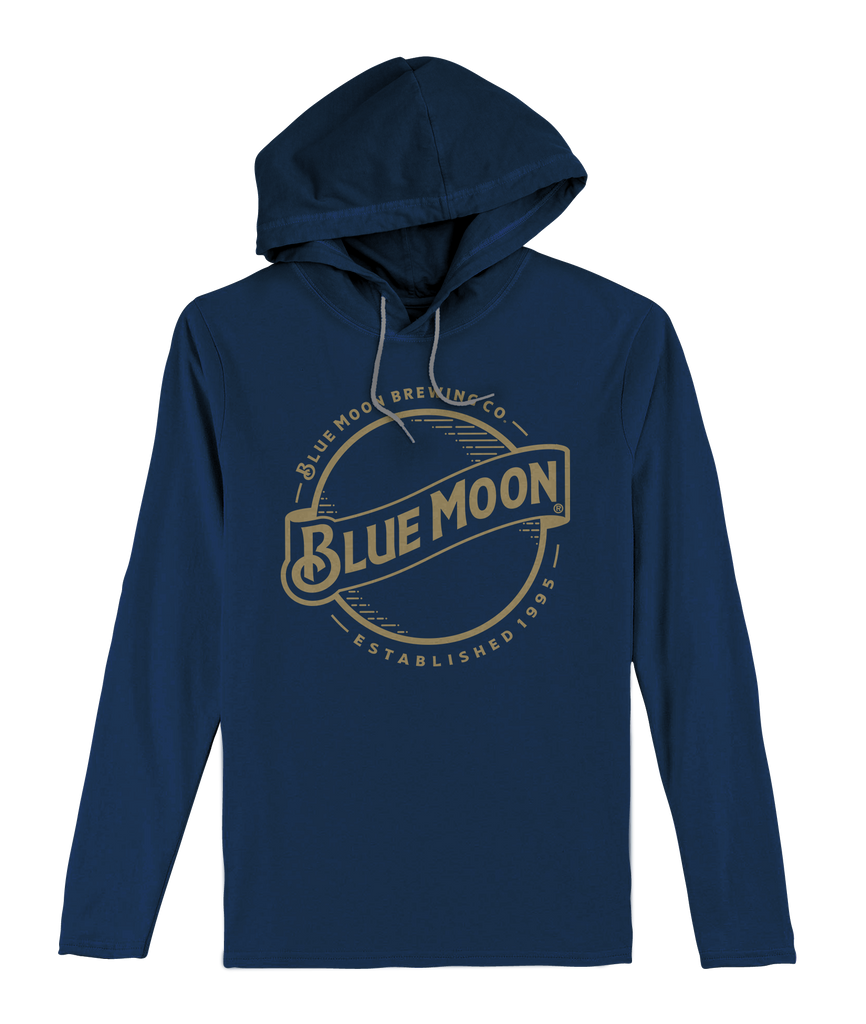 Blue Moon Gold Logo Hooded Jersey Tee