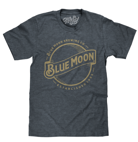 Blue Moon Gold Print Logo