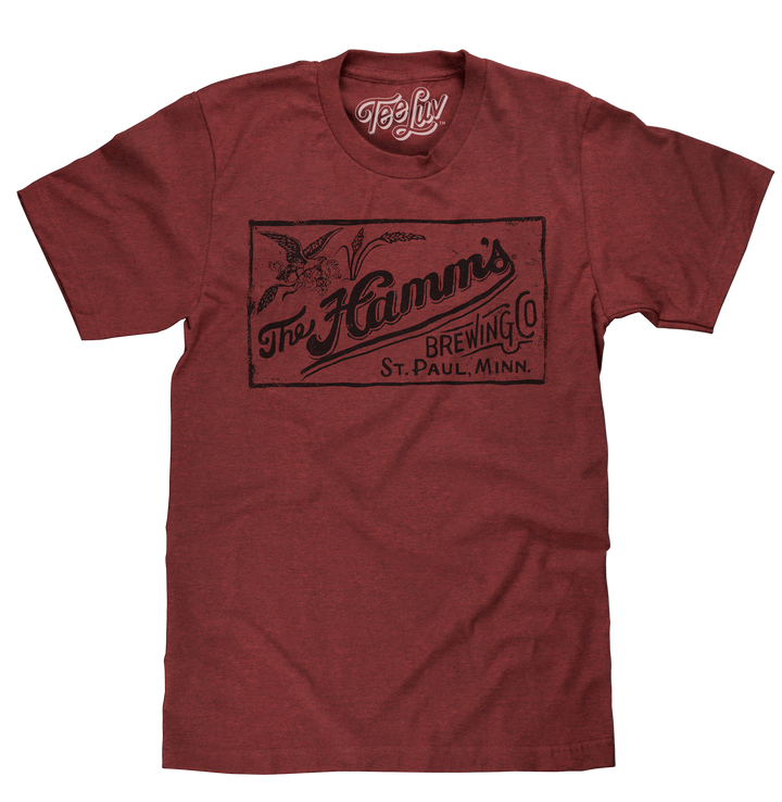 The Hamm's Brewing Company Logo T-Shirt - Red