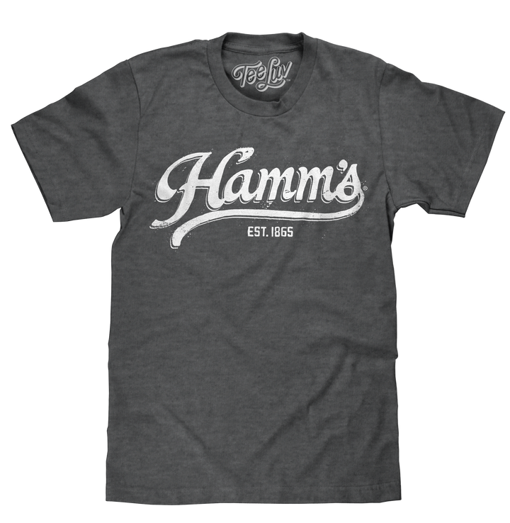 Hamm's Established 1865 White Print T-Shirt - Gray