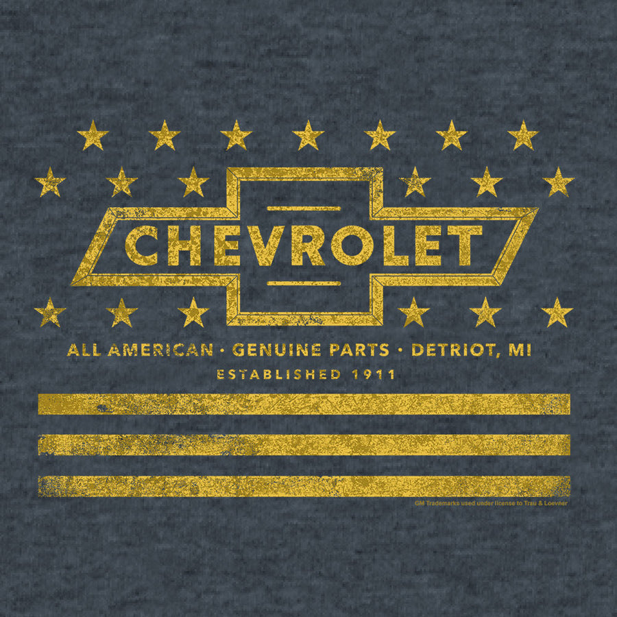 Chevrolet Yellow Stars & Stripes T-Shirt - Gray
