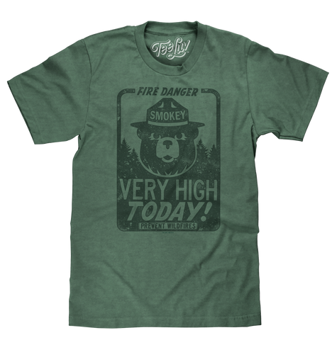 "Smokey the Bear ""Fire Danger Very High Today"" tri-blend T-shirt"