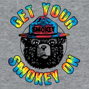 Get Your Smokey On Tie Dye T-Shirt - Gray