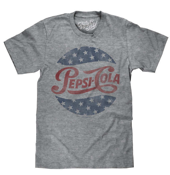 Pepsi Cola Stars T-Shirt - Gray