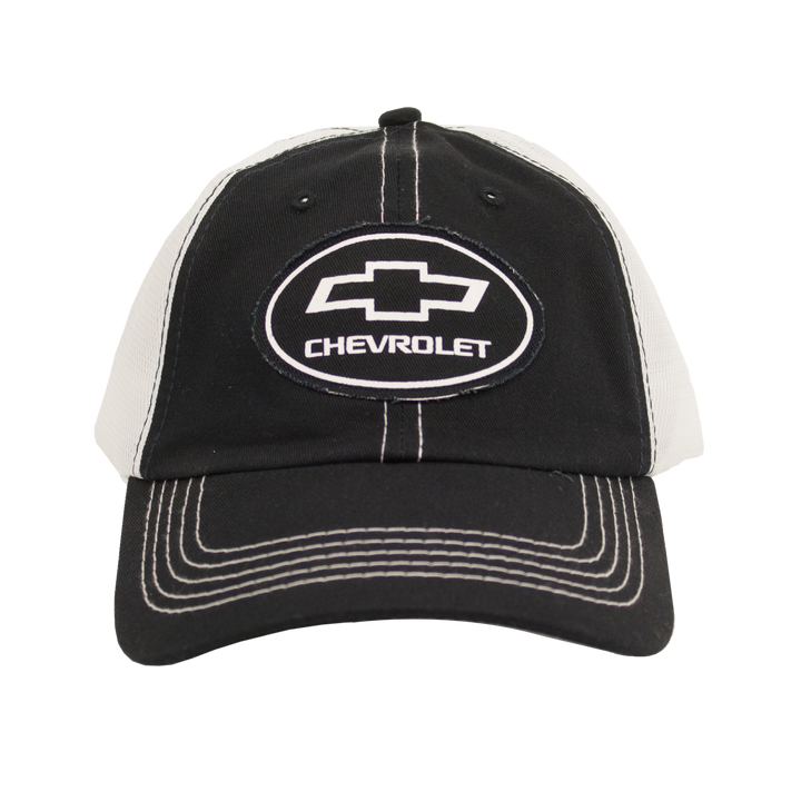 Chevy Oval Logo Patch Hat - Black - Front