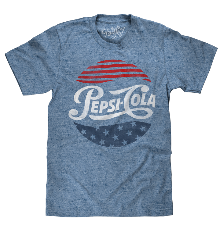 Patriotic Pepsi Cola T-Shirt - Blue