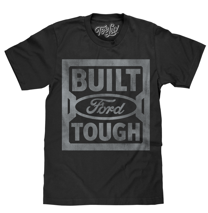 Built Ford Tough Steel Stamp Logo T-Shirt - Black