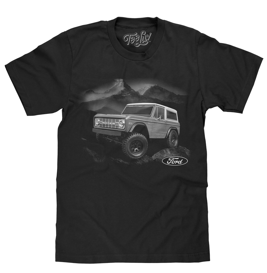 1970s Ford Bronco Mountain T-Shirt - Black