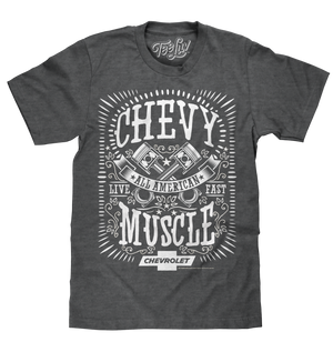 Chevrolet All American Muscle T-Shirt - Gray