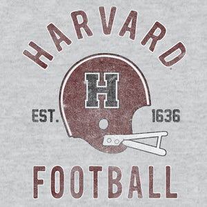 Harvard Football Distressed Women's Crew T-Shirt - Gray
