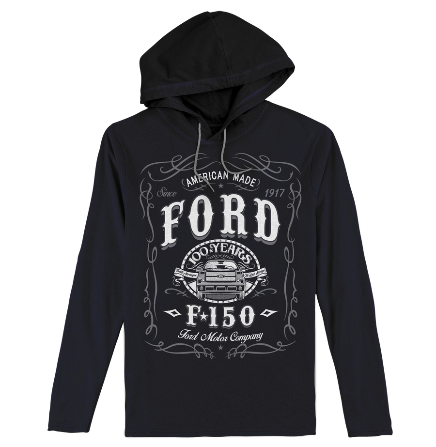 Ford F-150 Long Sleeve Hooded T-Shirt - Black