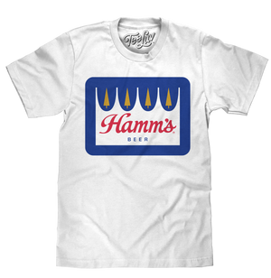 Hamm's Crown Color Logo T-Shirt - White