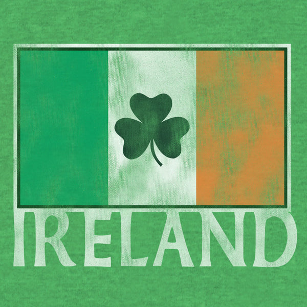 Ireland Flag with Shamrock
