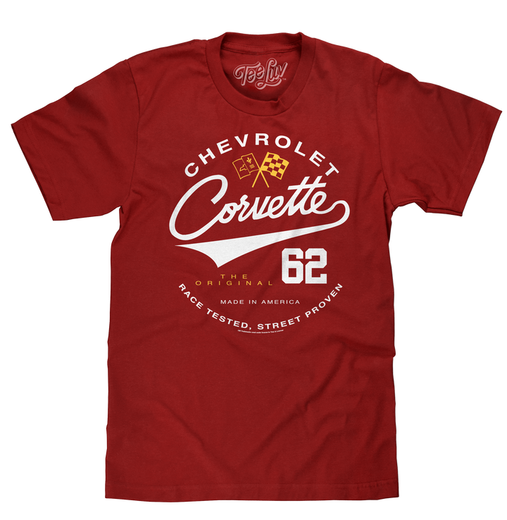Chevrolet Corvette 62 Race Tested Street Proven T-Shirt - Crimson Heather