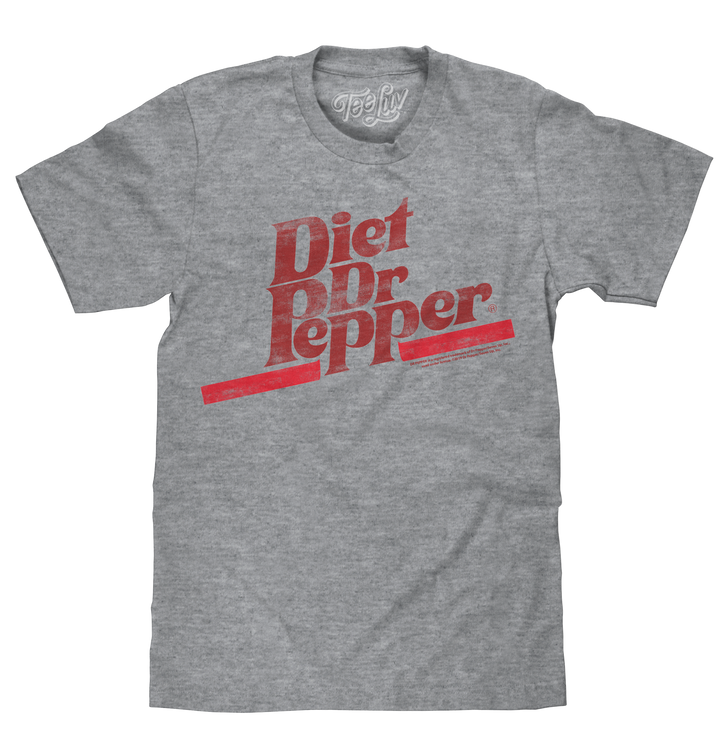 Diet Dr Pepper T-Shirt - Gray