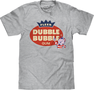 Fleer Dubble Bubble Gum T-Shirt - Athletic Gray Heather