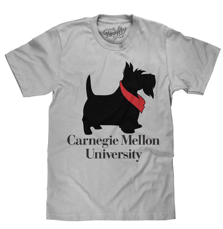 Carnegie Mellon University Scotty Dog T-Shirt - Gray