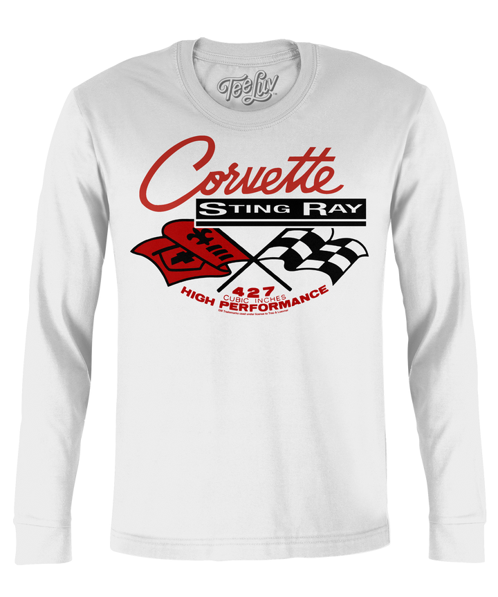 Corvette Stingray Long Sleeve T-Shirt - White