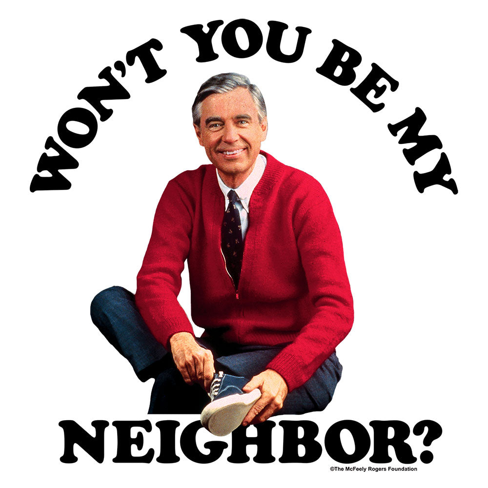Mister Rogers Won T You Be My Neighbor T Shirt White Tee Luv