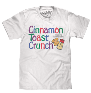 Cinnamon Toast Crunch Cereal Logo T-Shirt - White